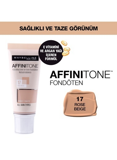 Maybelline Affinitone  Fondöten - 17 Rose Beige Renkli